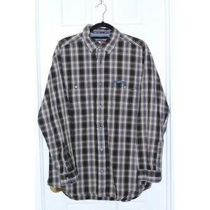 Vintage TOMMY JEANS Plaid Poplin Button Shirt